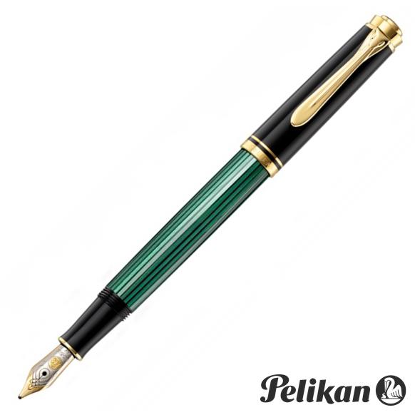 【名入れ・送料無料】 ペリカン PELIKAN スーベレーン M300 万年筆 緑縞