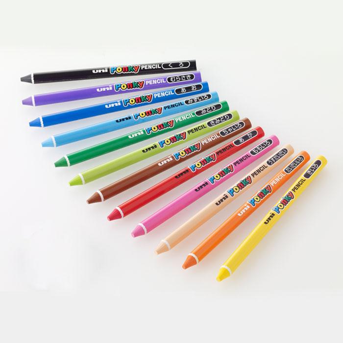 新開発 筆圧が強いお子様でも折れにくい高機能色鉛筆 35%OFF 三菱鉛筆 Ponky PENCIL いろえんぴつ ポンキーペンシル 色えんぴつ 図工に最適なペン全部が芯の色鉛筆 最新号掲載アイテム 単色