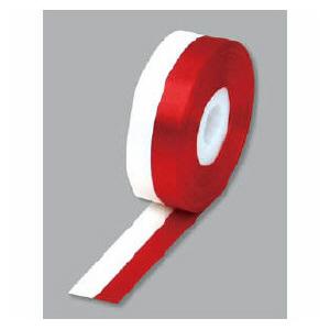 赤と白のロールリボン30m巻き。  リボン 紅白 24mm  us8-610-1231532P17Sep16