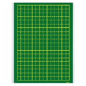 大人気 黒板への着脱に便利なぴたっとバー付き 両側 ウチダ 作文指導用黒板 us8-616-6022532P17Sep16 低価格化 10字×7行 110mmます マグネットシート式