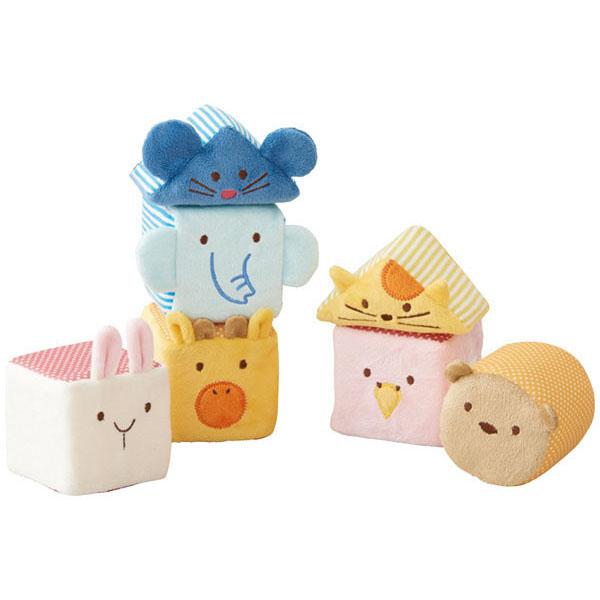 【エド・インター】たっぷりふわふわアニマルブロックセット 知育玩具