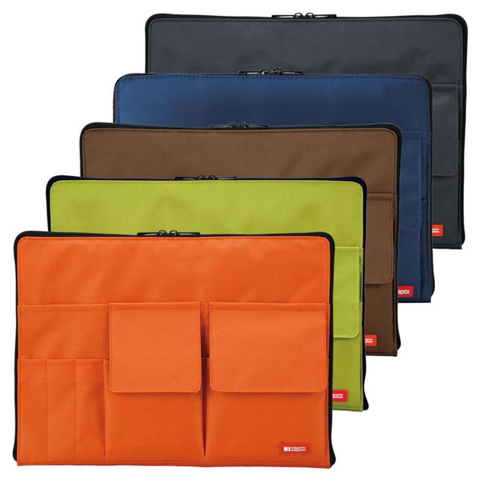 A4クリアホルダー収容可能サイズ 新商品 LIHIT LABTEFFA バッグインバッグ 大人文具 A-7554 鞄 商品追加値下げ在庫復活 A4
