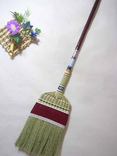 手編み座敷ほうき長柄ベルべット10本セット
