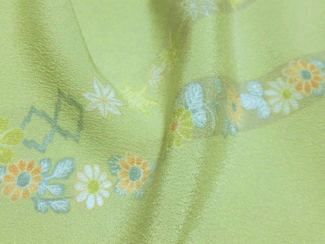 送料無料宝彩館 高級 洗える着物 東レシルック 小紋反物 未仕立て354eYED9bIWH2