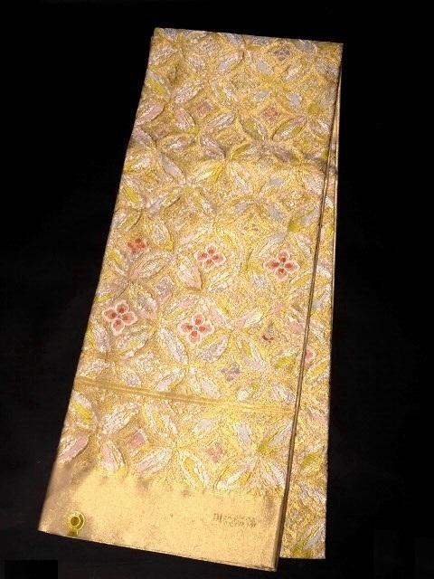 【宝彩館】高級 西陣織 川島織物謹製 袋帯 錦彩七宝 お仕立て付き