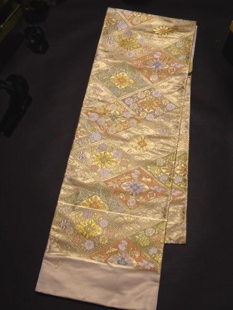 【宝彩館】西陣名門 藤原織物謹製 袋帯 錦繍菊菱文 お仕立て付き