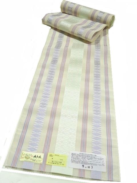 【宝彩館】高級 本場筑前博多織 紗献上 八寸名古屋帯 お仕立付き 34