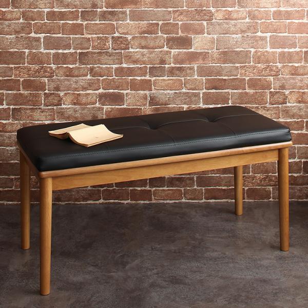 ダイニングベンチチェア 【送料無料】 おしゃれ クッション PVCレザー 合皮 合成皮革 北欧 レトロ ダイニング椅子 ダイニング用いす 安い 長椅子 二人用