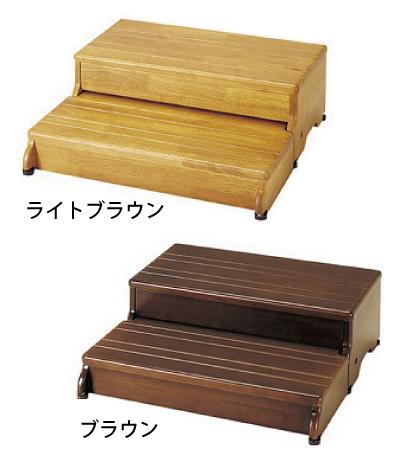 【送料無料】木製玄関台 60W-30-2段 アロン化成【代金引換不可】