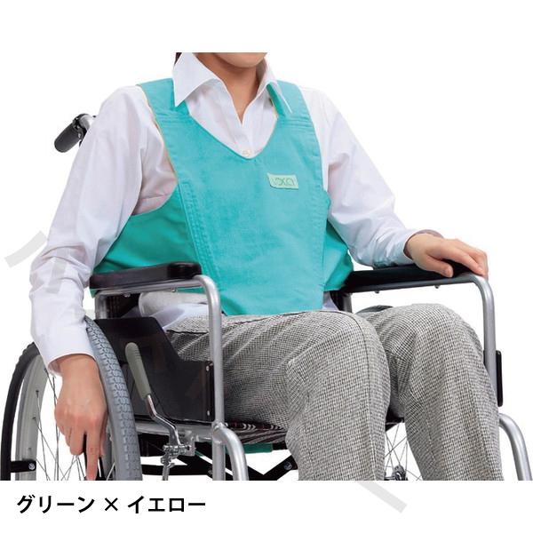 【送料無料】キーパー II 2 グリーン×イエロー・パープル×モカ(リバーシブル) 路加 [車椅子 車イス ベルト 安全] 【代金引換不可】
