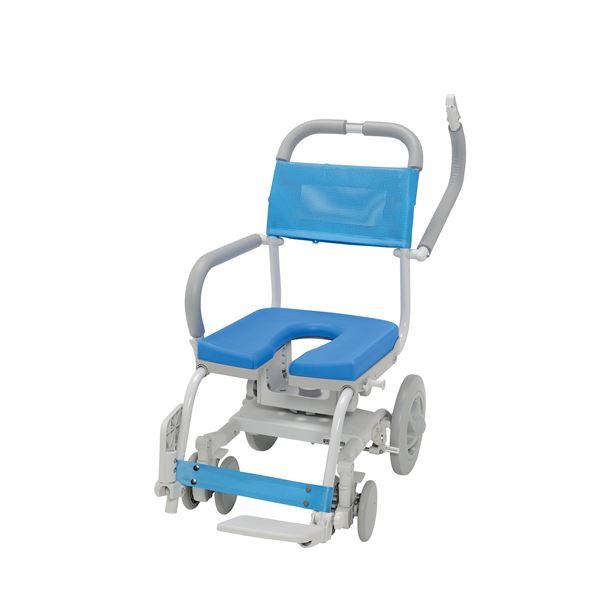 【施設、病院等への配送は送料無料】くるくるチェアD U型シート KRU-174 ウチヱ [介護用品 浴室 浴槽 入浴補助 車椅子]【代金引換不可】