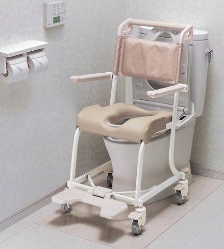 【送料無料】水まわり用車いす 4輪 小穴シート TOTO [介護用品 浴室 浴槽 入浴補助 車椅子]【代金引換不可】