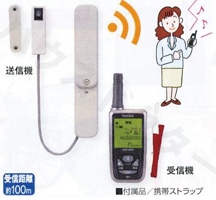 【送料無料】開見ちゃん 携帯型受信機セット(送信機1台) HCS-115(KE) 竹中エンジニアリング [介護用品 徘徊 防止 呼出 センサー]【代金引換不可】