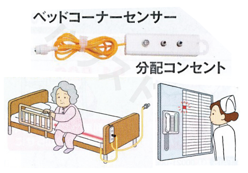 【送料無料】ナースコール接続セット B-CC(Mセット) ベッドコーナーセンサータイプ 竹中エンジニアリング [徘徊 防止 センサー アラーム 介護 介護用品]【代金引換不可】