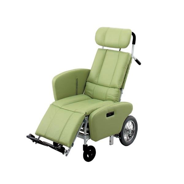 【送料無料】フルリクライニング NHR-15B 日進医療器 [車椅子 介助 アルミ製 介護用品]【代金引換不可】