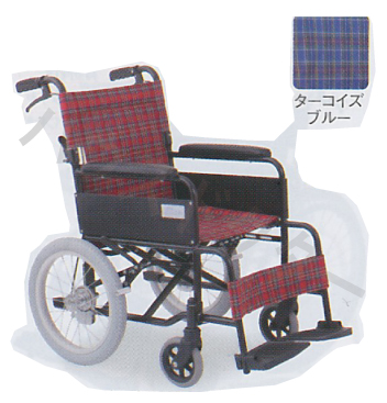 【送料無料】介助型 アミー16 ノーパンク仕様 MW-16AN 美和商事 [車椅子 介助 アルミ製 介護用品]【代金引換不可】