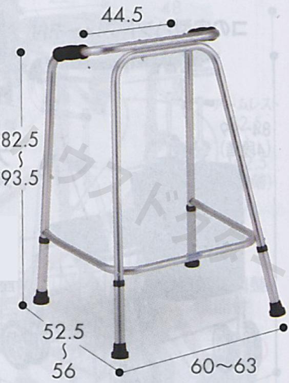 【送料無料】Uラインウォーカー [サイズ:大] AL-120 クリスタル産業 [歩行補助/歩行器/介護用品] 【代金引換不可】