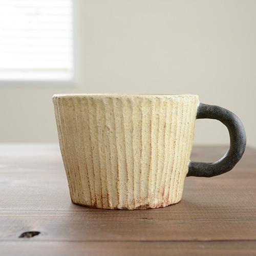作家 陶器 マグカップ 信楽焼きマグカップ 信楽焼き 手づくり 激安通販 母の日 半額 カップ しのぎ サニークラフト sunny-craft