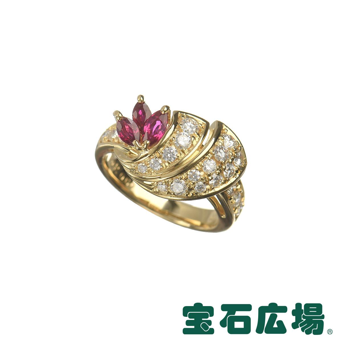 クイーン ルビー・ダイヤ リング 【中古】 ジュエリー 送料無料