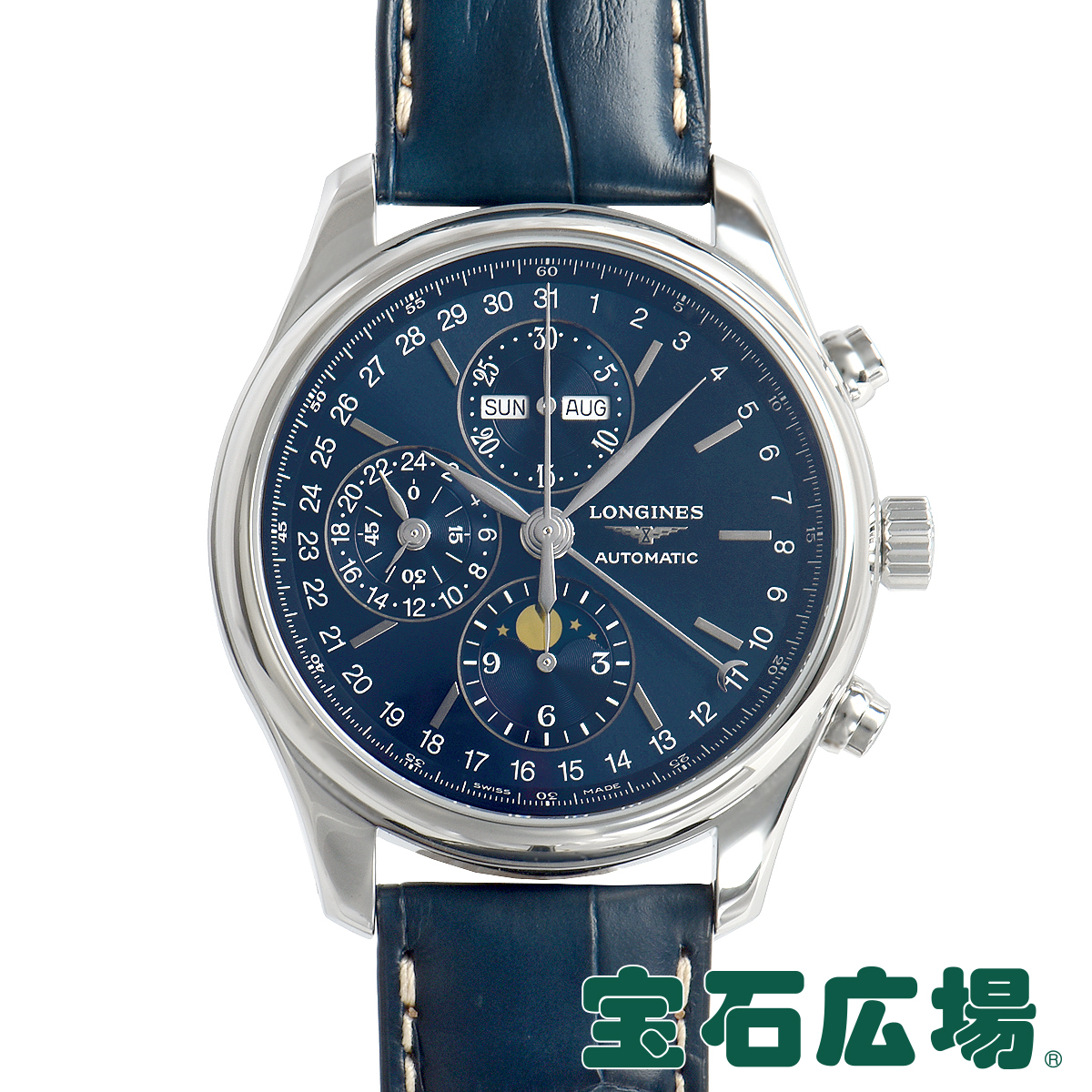 ロンジン LONGINES マスターコレクション クロノムーンフェイズ L2.773.4.92.0【新品】メンズ 腕時計 送料・代引手数料無料