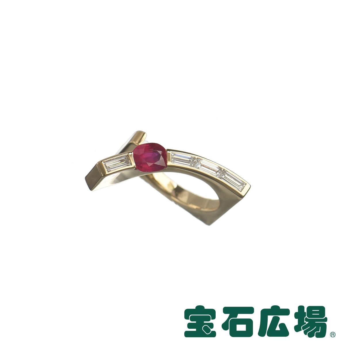 ミキモト MIKIMOTO ルビー・バゲットダイヤ リング 【中古】 ジュエリー 送料・代引手数料無料