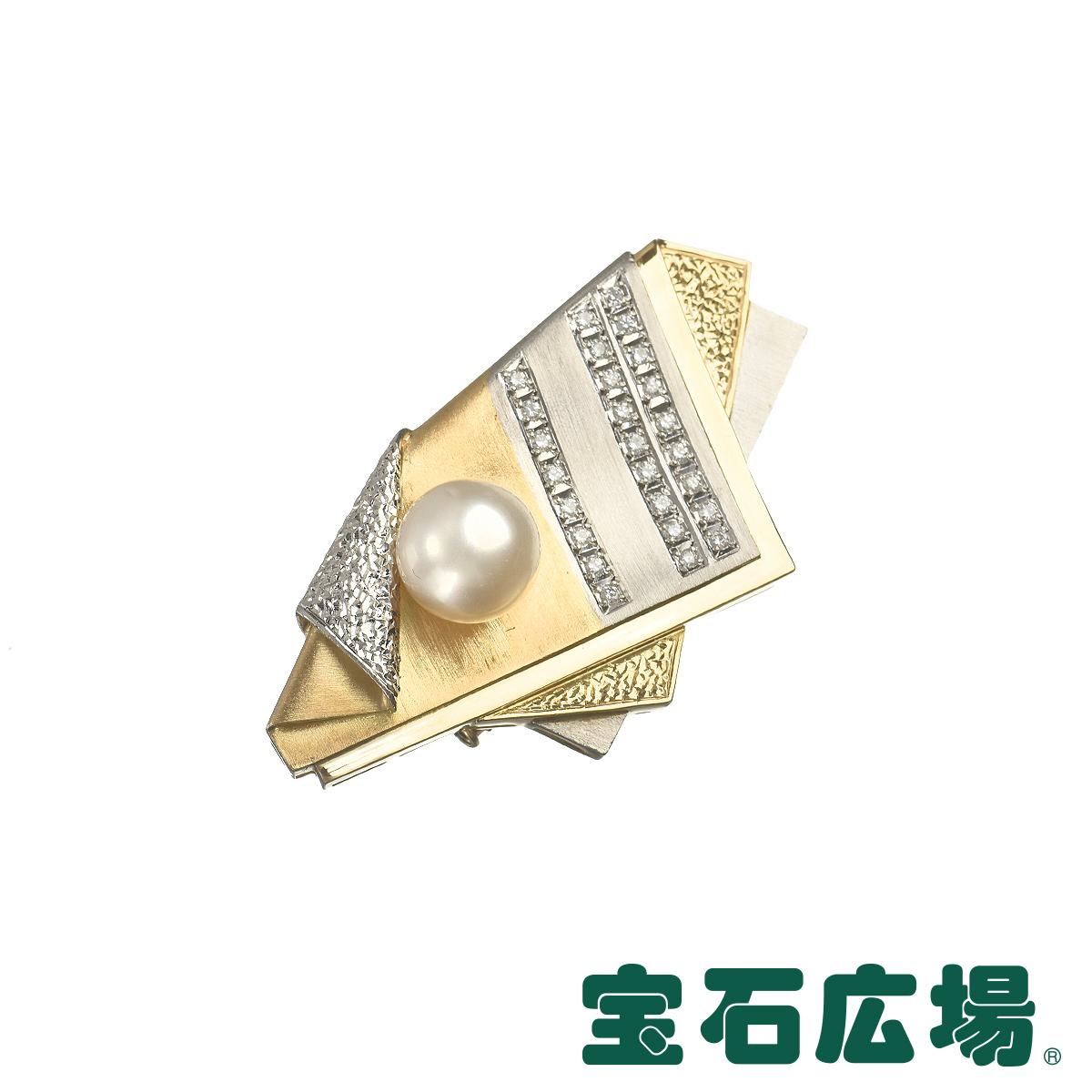 イシカワ・ノブコ パール・ダイヤ ブローチ 帯留 【中古】 ジュエリー 送料無料