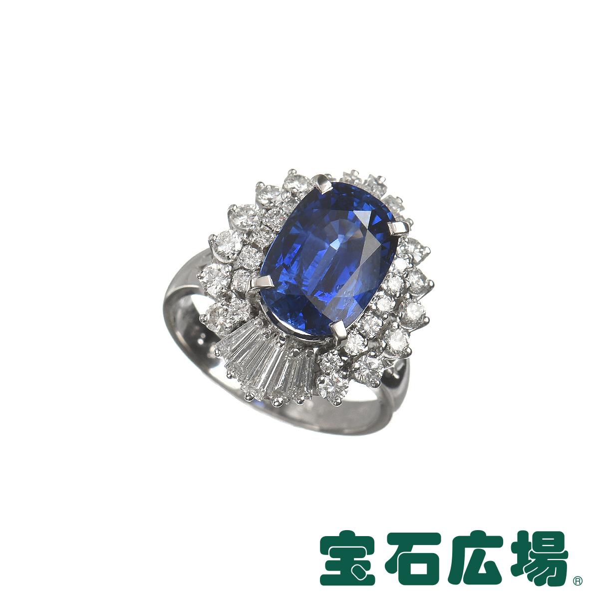ノーブランド サファイア・バゲットダイヤ・ダイヤ リング 【中古】 ジュエリー 送料無料