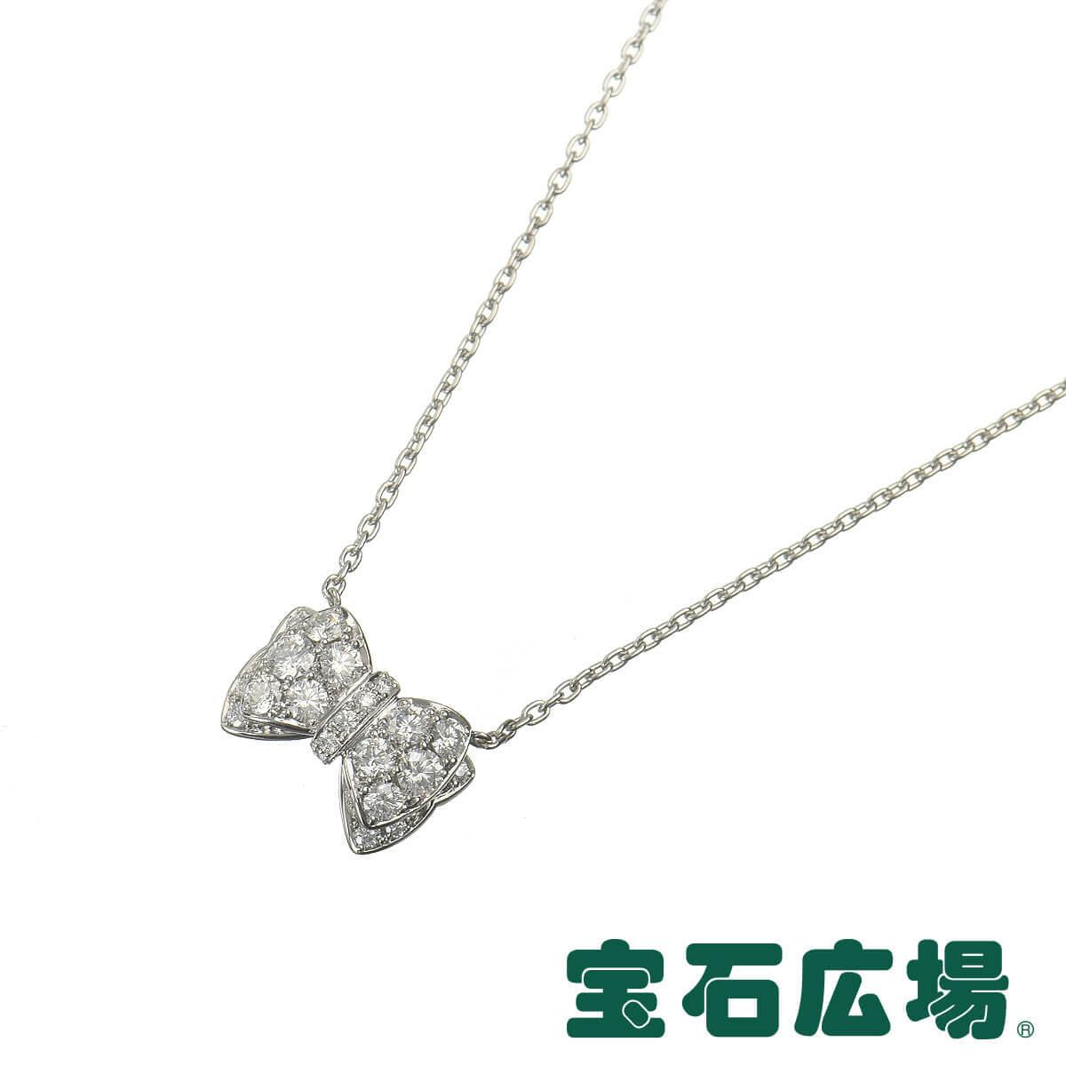 ギメル リボン ダイヤ ネックレス GN006PD【中古】 ジュエリー 送料無料