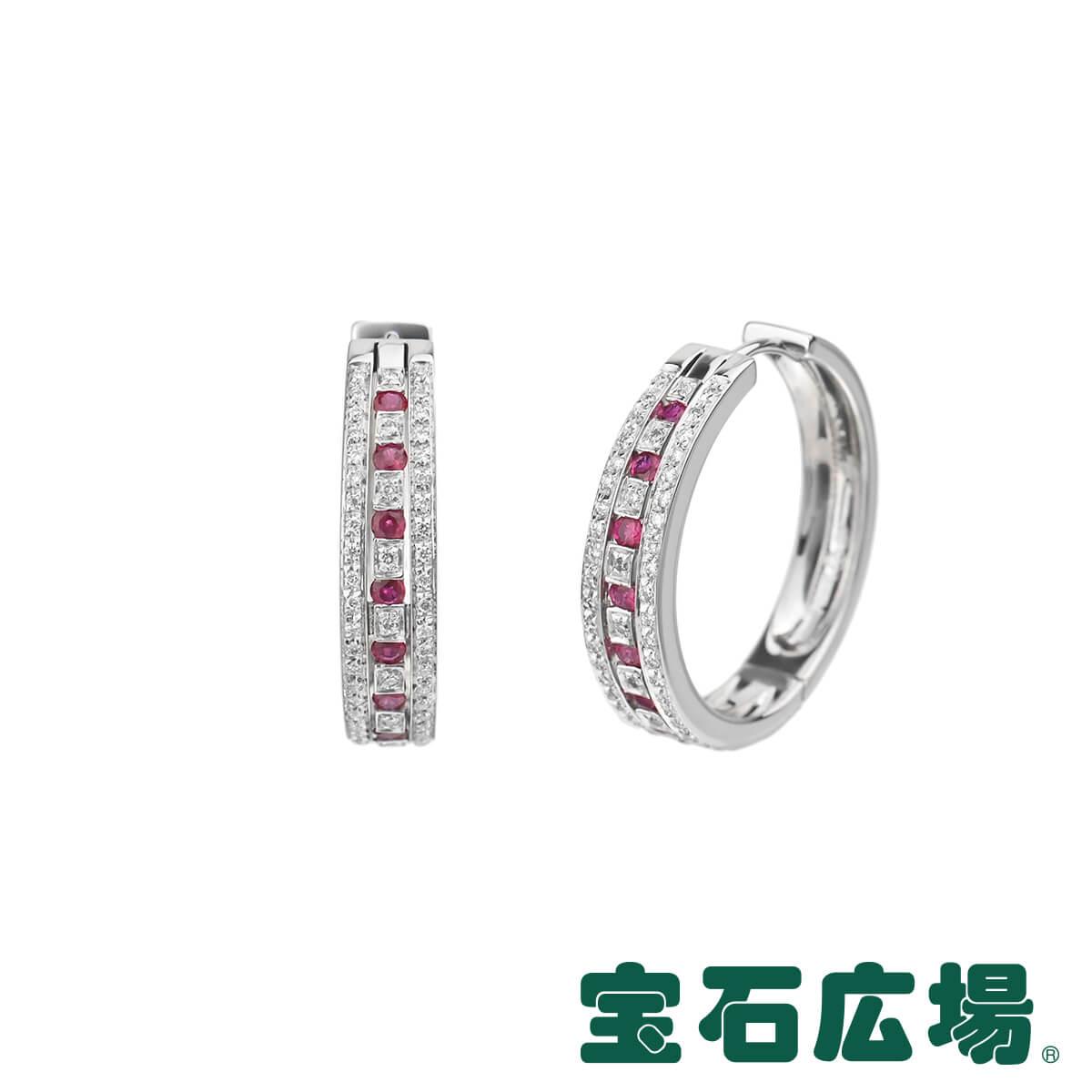 ダミアーニ ベルエポック ルビー ダイヤ フープピアス L 限定品 新品 送料無料 ジュエリー 限定モデル 20030396 DAMIANI
