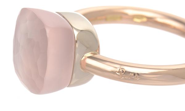 Pomellato Rose Quartz Nudo Classic Ring, A.C004BRO6/QR For