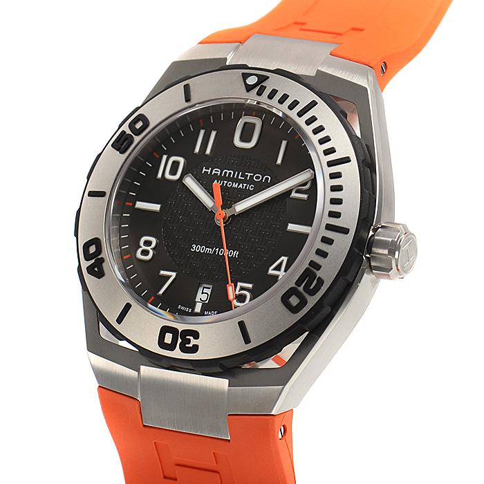メンズ 【新品】 ハミルトン 送料・代引手数料無料 腕時計 サブオート カーキネイビー H78615985