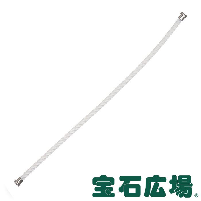 フレッド フォース10 ホワイト テキスタイル ケーブル(MM) 14 6B0344【新品】 ジュエリー 送料無料