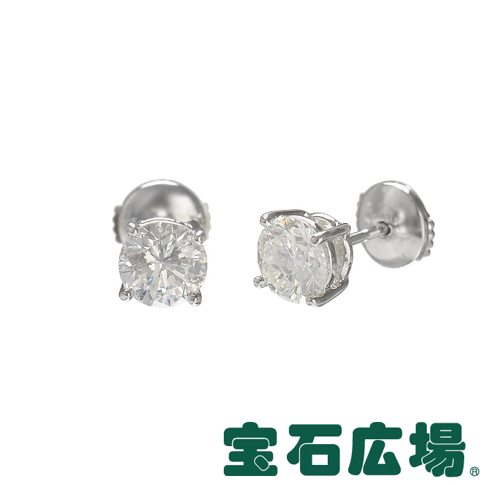 宝石広場オリジナル ダイヤピアス D 1.072ct/1.140ct【新品】 ジュエリー 送料無料
