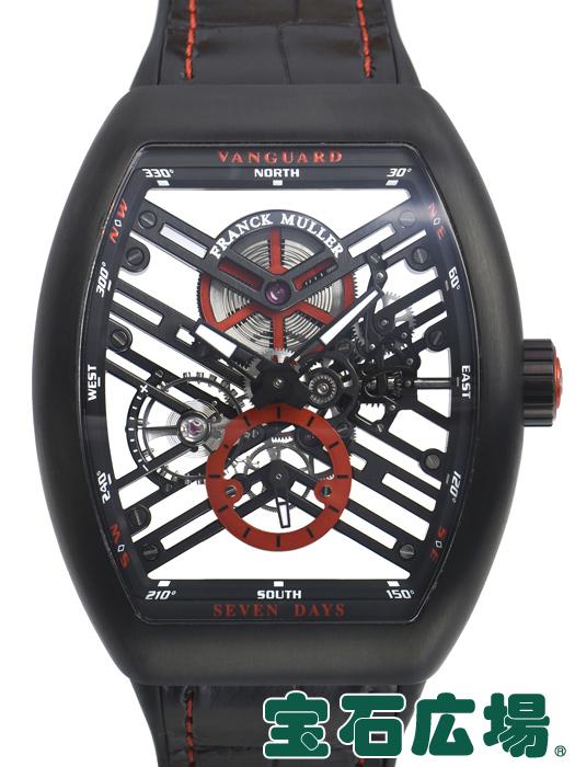 フランク・ミュラー ヴァンガード 7デイズ パワーリザーブ スケルトン V45S6SQTTTNRBRER【新品】 メンズ 腕時計 送料・代引手数料無料