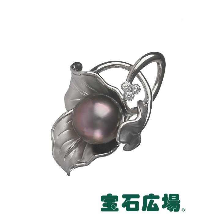 ノーブランド ブラックパール・ダイヤ ペンダントヘッド パール直径約13.5mm【中古】 ジュエリー 送料無料