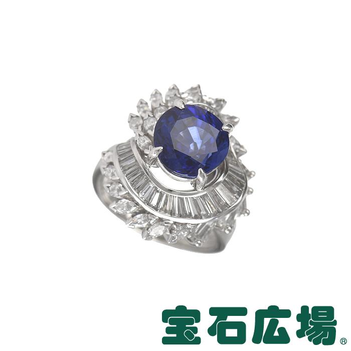ノーブランド サファイア マーキスダイヤ テーパーダイヤ リング【中古】 ジュエリー 送料無料