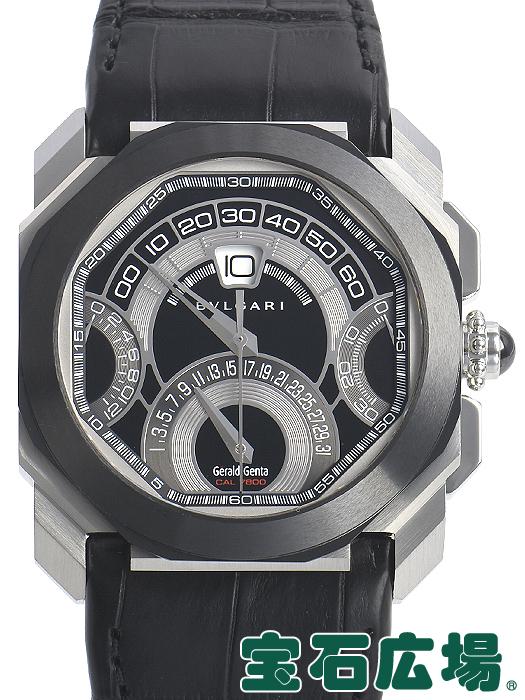 893fa2727be3 ブルガリ ジェラルド・ジェンタ オクトクアドリレトロ BGO45BSCLDCHQR【中古】 メンズ 腕時計 送料・代
