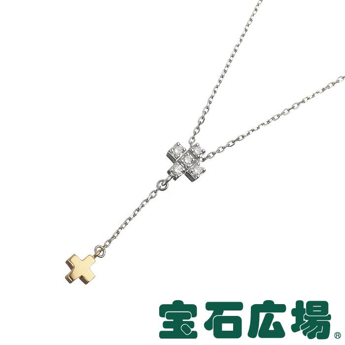 4℃ クロス ダイヤ ドロップペンダントネックレス【中古】 ジュエリー 送料・代引手数料無料