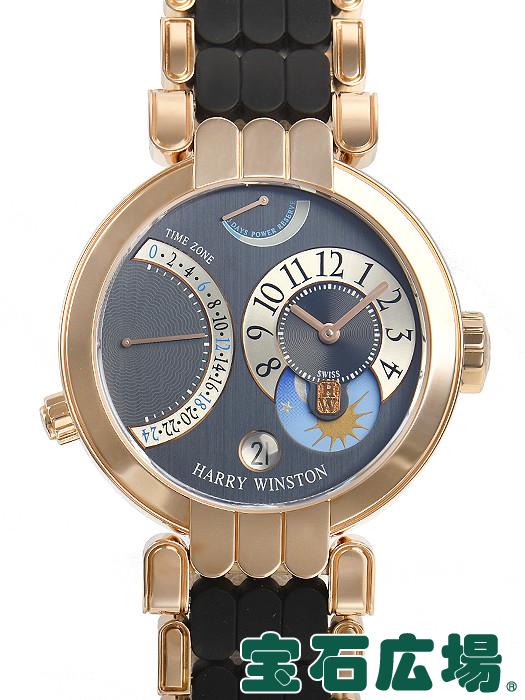 ハリー・ウィンストン HARRY WINSTON プルミエール エキセンター タイムゾーン 200/MMTZ39R【中古】メンズ 腕時計 送料・代引手数料無料