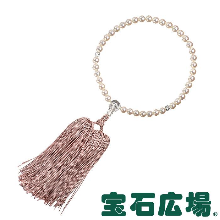 ミキモト パール・クリスタル ピンク房 数珠【中古】 ジュエリー 送料・代引手数料無料