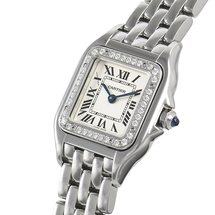 low priced a064f bf8d7 Cartier CARTIER Bakery tail do Cartier SM W4PN0007 Lady's watch postage,  collect on delivery fee for free