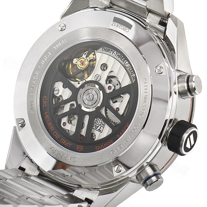 タグ・ホイヤー TAG HEUER カレラ キャリバーホイヤー02 クロノグラフGMT CBG2A1Z.BA0658【新品】 メンズ 腕時計 送料・代引手数料無料