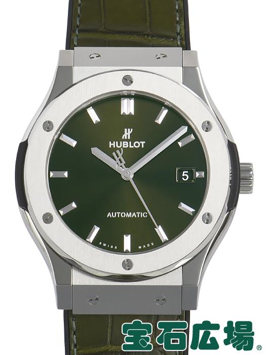ウブロ HUBLOT クラシックフュージョン グリーンチタニウム 511.NX.8970.LR【新品】 メンズ 腕時計 送料・代引手数料無料
