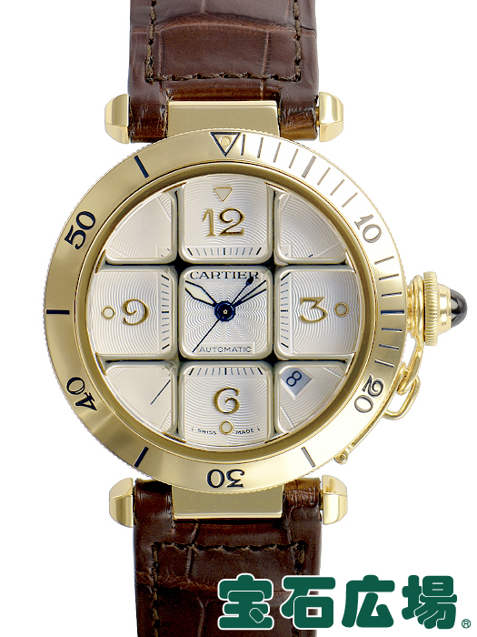 カルティエ CARTIER パシャ38 グリッド 【中古】 メンズ 腕時計 送料・代引手数料無料