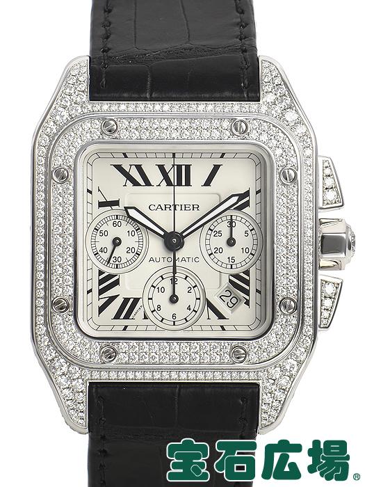 カルティエ CARTIER サントス100 クロノ WM500651【中古】 メンズ 腕時計 送料・代引手数料無料