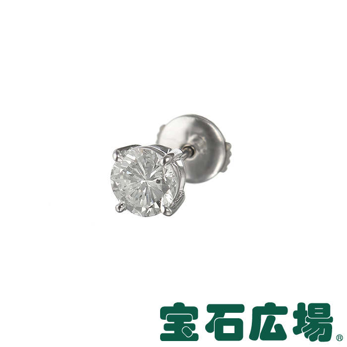 宝石広場オリジナル ダイヤ ピアス(シングル) D 1.047ct 【新品】 ジュエリー 送料無料