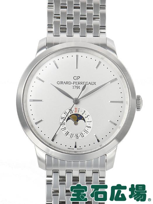 ジラール・ペルゴ GIRARD PERREGAUX 1966ムーンフェイズ 49545-11-131-11A【中古】 メンズ 腕時計 送料・代引手数料無料