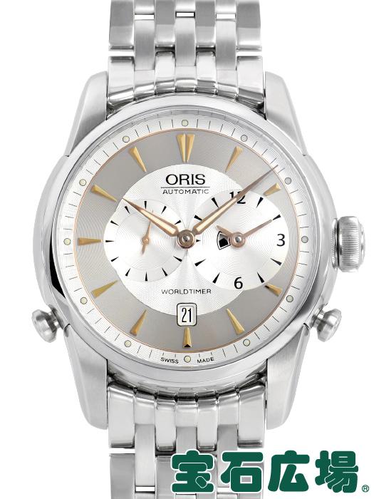 オリス ORIS ARTELIER ワールドタイマー 01 690 7581 4051-07 8 22 73【中古】 メンズ 腕時計 送料・代引手数料無料