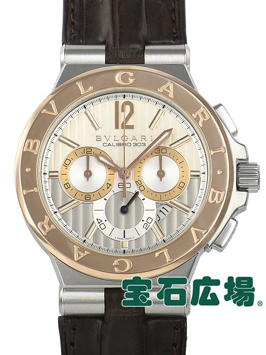 ブルガリ BVLGARI ディアゴノ カリブロ303 DG42C6SPGLDCH【中古】 メンズ 腕時計 送料・代引手数料無料