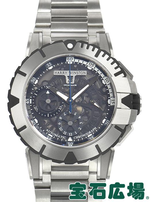ハリー・ウィンストン HARRY WINSTON オーシャンスポーツ クロノ OCSACH44ZZ003(411/MCA44ZZ.K)【中古】 メンズ 腕時計 送料・代引手数料無料